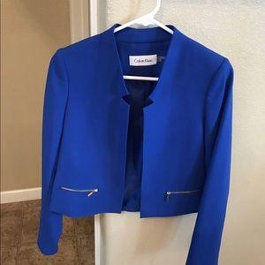 Blue Calvin Klein cardigans